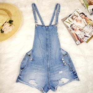 Zara Overall short distressed cut off shorts